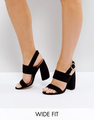 Image 1 of ASOS HEALEY Wide Fit Heeled Sandals