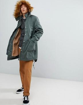Parkas | Men's Parka Coats & Fur Lined Parkas | ASOS