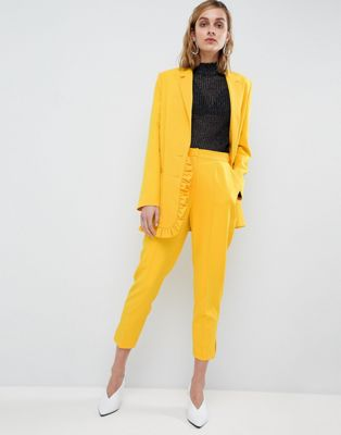 ASOS Highwaist Yellow Trouser