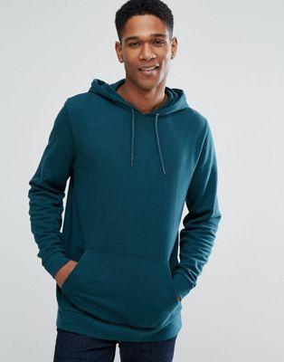 ASOS - Hoodie long - Vert