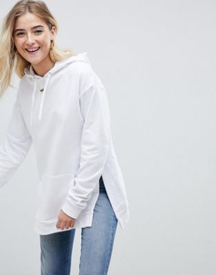 Image 1 of ASOS Hoodie with Side Split Detail