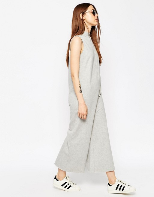1b1908b307 ASOS Jersey Jumpsuit with High Neck in Sweat
