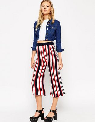 Image 1 of ASOS Knitted Culottes In Stripe