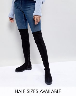 ASOS KOREY Flat Over The Knee Boots