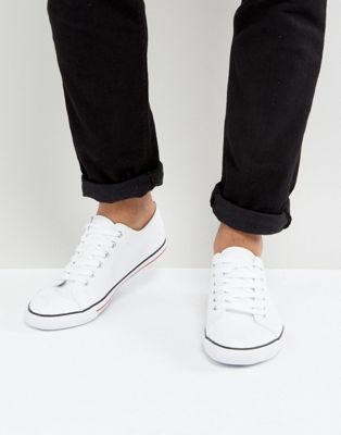 ASOS Lace Up Plimsolls In White