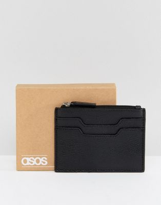 ASOS Leather Card Holder With Zip Fastening