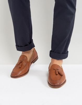 ASOS Loafers In Tan Leather With Tassel