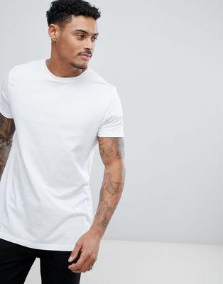 ASOS Longline T-Shirt With Crew Neck