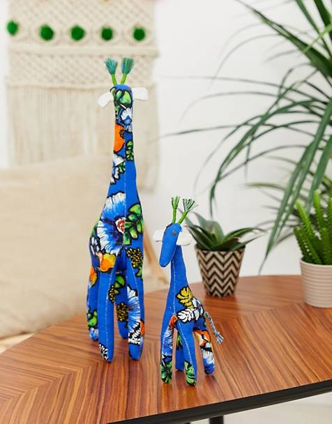ASOS MADE IN KENYA 2 pack handmade giraffe ornaments