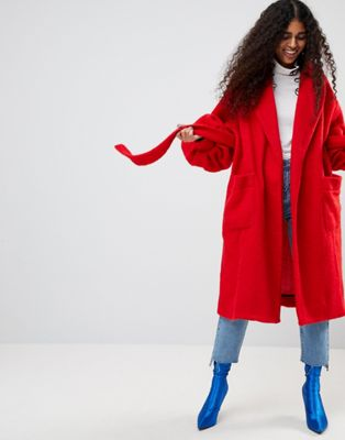 ASOS Made In Kenya Robe Coat With Balloon Sleeves