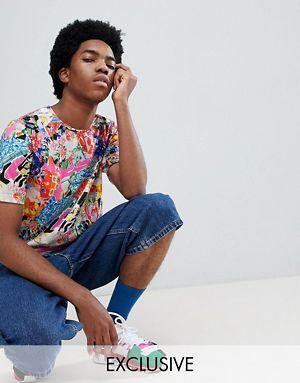 ASOS Made In Kenya x 2ManySiblings T-Shirt In Mixed Print