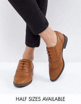 ASOS MANIC Flat Brogues in Water Based PU