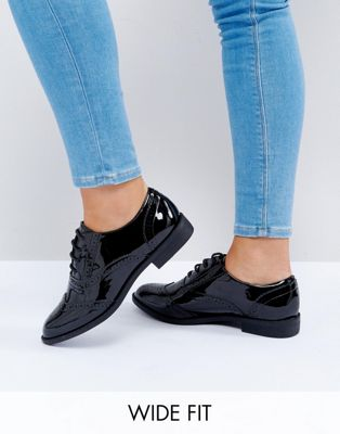 ASOS MANIC Wide Fit Flat Brogues