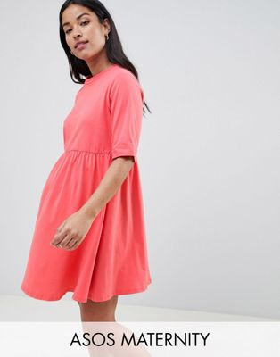 ASOS MATERNITY Mini Ultimate Cotton Smock Dress
