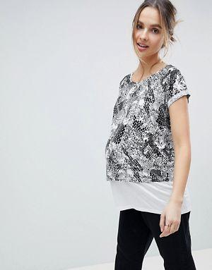 Vente Authentique ASOS DESIGN Maternity - Top rayé avec envers légèrement bouclé - MultiAsos Maternity Prix De Gros Pas Cher Sortie 2018 Unisexe k9mcU1dC