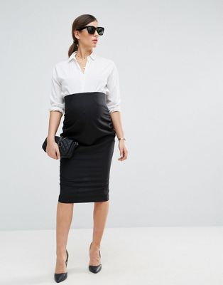 ASOS Maternity Workwear Tailored Pencil Skirt