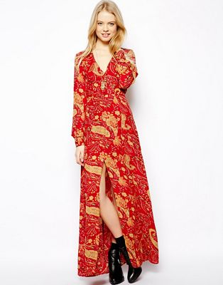 Image 1 of ASOS Maxi Dress In Paisley Print