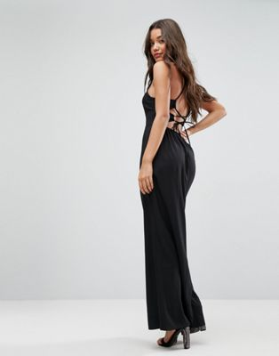 Image 1 of ASOS Maxi Dress with Strappy Back Detail