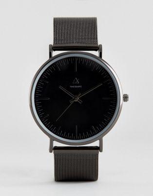 ASOS Mesh Strap Watch In Black