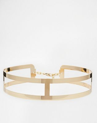 ASOS Metal Waist Belt With Cut Work Detail