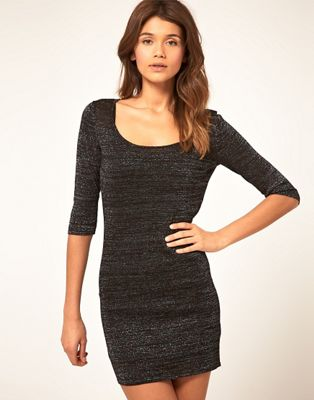 Image 1 of ASOS Metallic Bodycon Dress