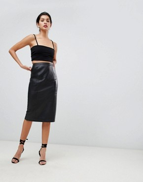 Leather Skirts | Women's leather & suede skirts | ASOS