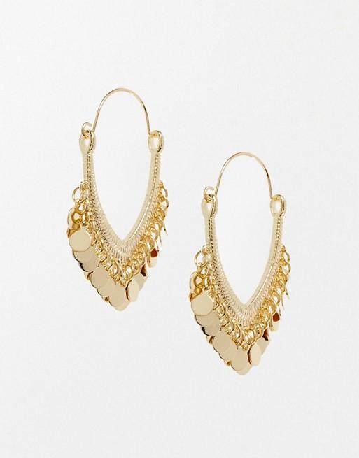 6828918a925e23 ASOS Mini Disc Hoop Earrings | ASOS