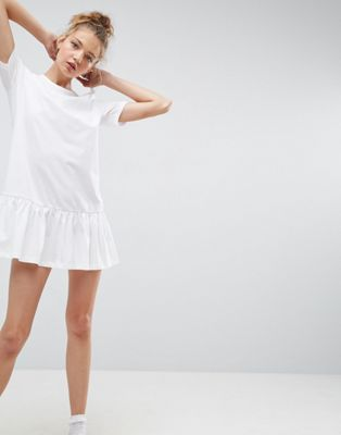 ASOS Mini Drop Hem T-Shirt Dress