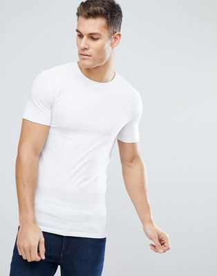 ASOS Muscle Fit T-Shirt With Crew Neck In White