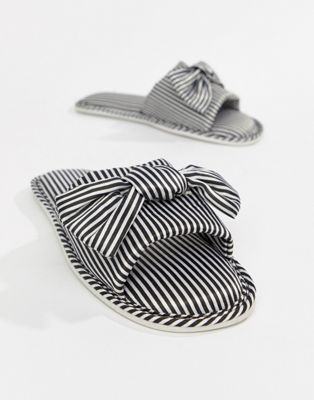 ASOS NISHA Satin Bow Slippers