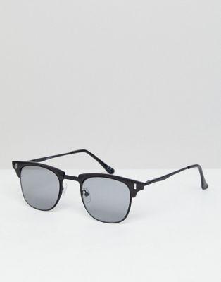ASOS - Occhiali da sole rétro neri con lenti sfumate