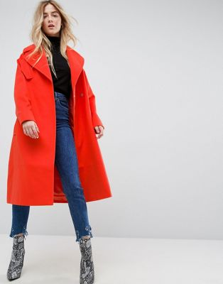 Image 1 of ASOS Oversized Coat with Pocket Detail