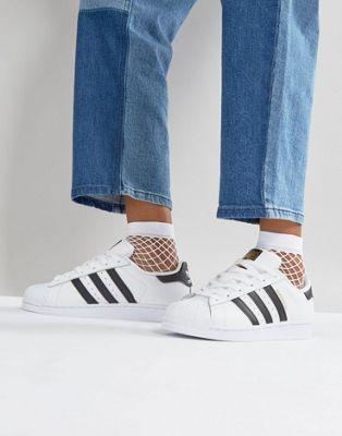 ASOS Oversized Fishnet Ankle Socks In White