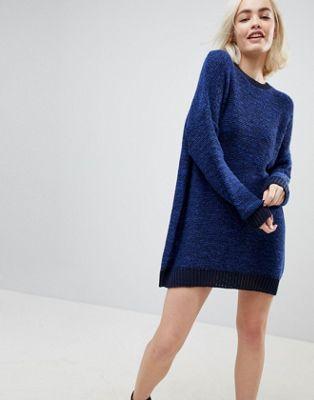 ASOS Oversized Sweater Dress In Twist Yarn
