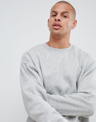 ASOS Oversized Sweatshirt in Grey Marl