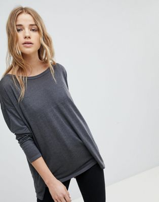 ASOS Oversized Swing Top in Heavy Wash