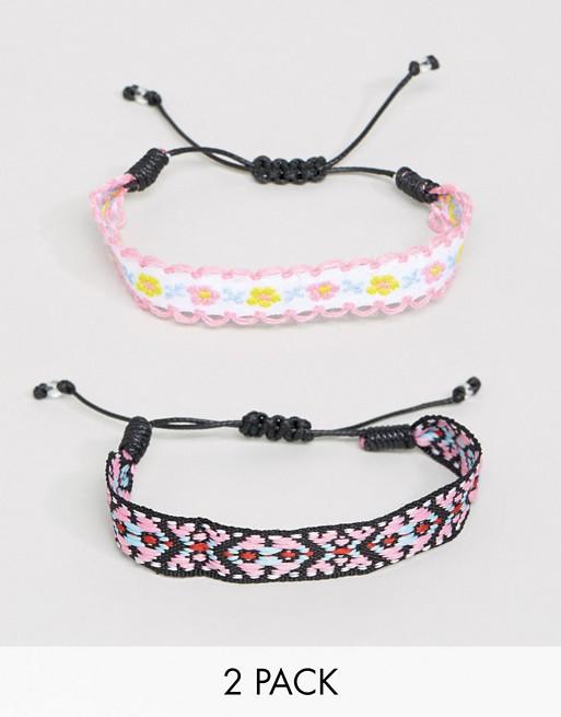 ce1d8f19c05ec ASOS Pack of 2 Friendship Bracelets