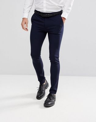 ASOS - Pantalon habillé ultra skinny - Bleu marine