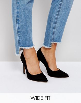 ASOS PARIS Wide Fit Pointed High Heels