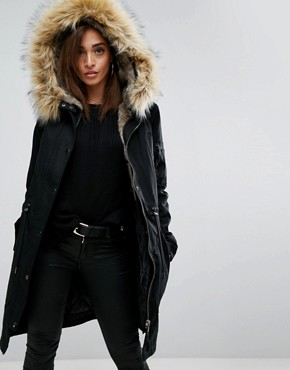 parkas femme parkas vestes et manteaux d 39 hiver asos. Black Bedroom Furniture Sets. Home Design Ideas