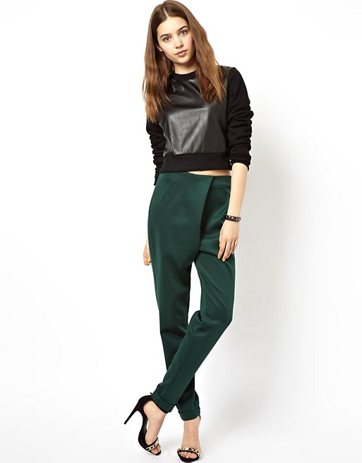 Image 1 of ASOS Peg Pant with Asymmetric Front