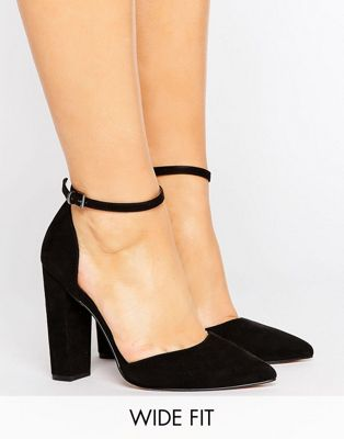 ASOS PENALTY Wide Fit Pointed High Heels
