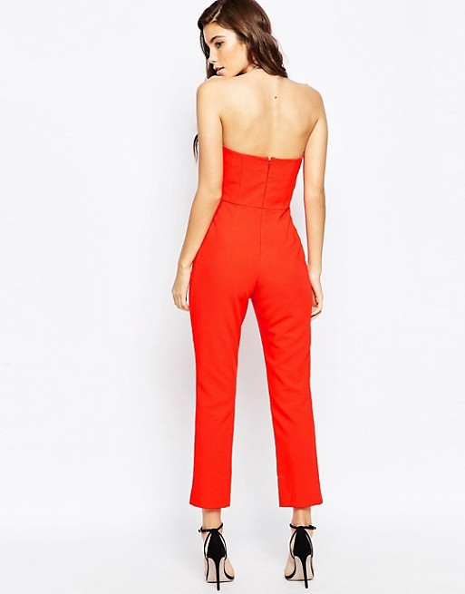 921392c0b26 ASOS PETITE Bandeau Jumpsuit with Sweetheart Neck