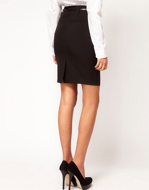 649ed73c4e ASOS PETITE Belted Pencil Skirt | ASOS