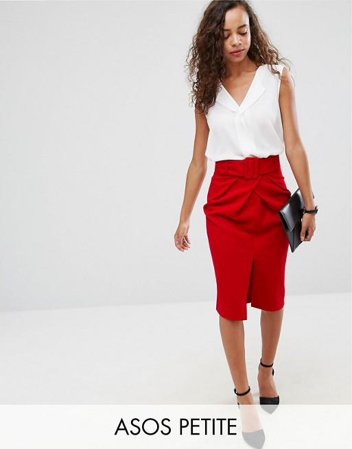 cab1194052 ASOS PETITE belted pencil skirt | ASOS