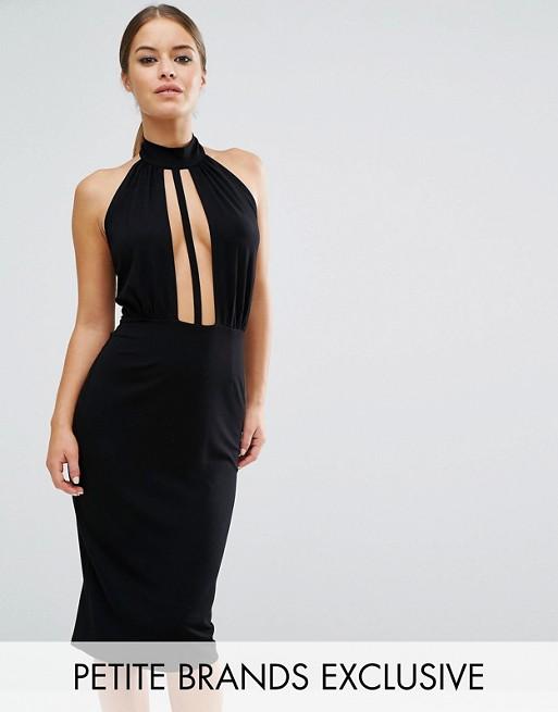 Asos Petite Asos Petite Bodycon Dress With Plunge Neckline