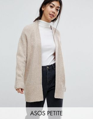 ASOS PETITE Chunky Knit Cardigan In Wool Mix