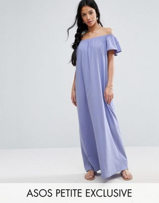 ASOS PETITE Off Shoulder Maxi Dress
