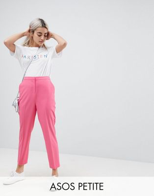 ASOS PETITE - Pantalon cigarette - Rose pop