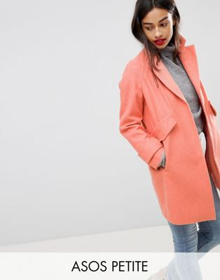 ASOS PETITE Pocket Detail Coat